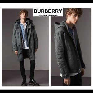 $1795 Burberry men 3 in 1 jacket Smokey green